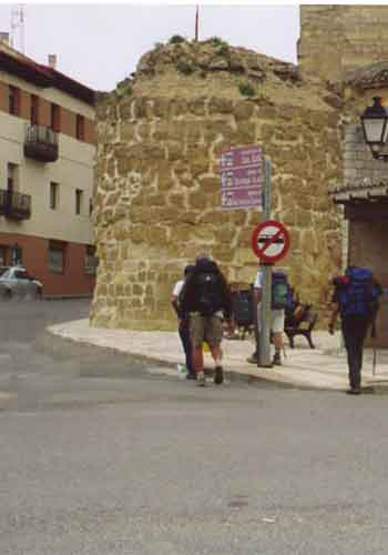 Pilgrims leaving Astorga